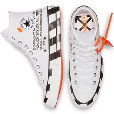 Off-White × Converse Chuck Taylor All Star 70 Galaxy Converse, Mode Converse, Converse Style, Converse Shoes, Off White Converse, Off White Shoes, Grunge Style, Soft Grunge, Converse Chuck Taylor All Star