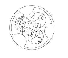 My name in circular Gallifreyan