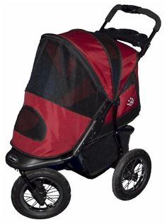 Jogger Pet Stroller - Burgundy *** Additional details at the pin image, click it  (This is an amazon affiliate link. I may earn commission from it)