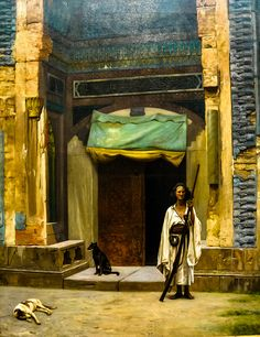 """Portal of the Green Mosque"" - Gerome (1870)"