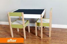 Painted IKEA table set