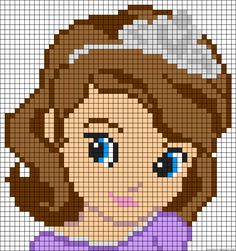 Princess Sofia the First perler bead pattern