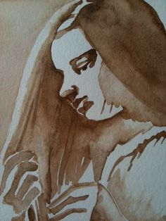 'Insecure', watercolor by Gaby von Oven, 2012 Insecure, Art Work, Oven, My Arts, Watercolor, Portrait, Painting, Watercolour, Work Of Art