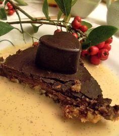 Шоколадный трюфельный пирог | Сыроедение рецепты