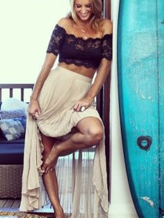 Samantha Wills looking amazing in our Grace loves lace crop top www.graceloveslace.com