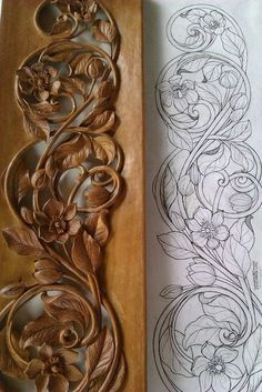 Wood Carving Patterns Dremel Woodcarving 36 Ideas For 2019 Wood Carving Designs, Wood Carving Patterns, Wood Carving Art, Wood Carvings, Woodworking Projects Plans, Teds Woodworking, Woodworking Skills, Woodworking Patterns, Popular Woodworking