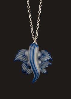 Glaucus Atlanticus Nudibranch Pendant. Yes, those things are real animals. Totally look like Pokemon. $49