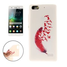 [$1.16] Red Feathers Pattern TPU Protective Case for Huawei Honor 4C