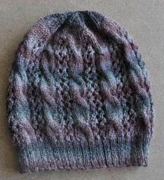 Free - Sausalito Cables Lace Hat (matching cowl on Scarves/Cowls board)