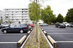 Parking Space, Parking Lot, Urban Landscape, Landscape Design, Walkable City, Parking Solutions, Public Space Design, Parking Design, Space Architecture