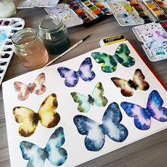 •••• New video on my YouTube channel: Maremi SmallArt •••• #maremismallart #watercolorfun #watercolorpainting #watercolor #watercolour #paint #handpaint #handdrawn #painting  Thank you @melanieaprilart for your watercolor inspirations. You are simply amazing! With @prima_watercolor #onmytable #paintlove #watercolorlove #primawatercolors #cardmakinghobby #paintingbutterflies #paintingflowers #scrapbooking #colouring #color #paintingoftheday #cardmaking