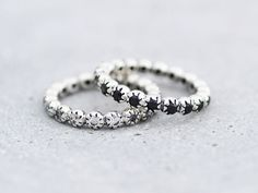 Handcrafted Eternity CZ Silver Ring Band by SilverStellaJewel on Etsy https://www.etsy.com/listing/467611827/handcrafted-eternity-cz-silver-ring-band