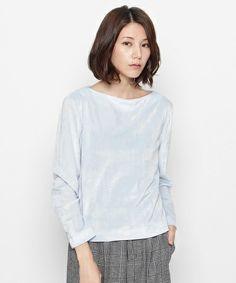 ベロアプルオーバー(Tシャツ/カットソー)|OPAQUE.CLIP(オペークドットクリップ)のファッション通販 - ZOZOTOWN