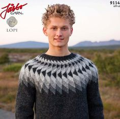 "DIY kit ""Jón"" Icelandic pullover lopapeysa sweater unisex adult Ístex"