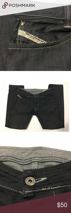 "Diesel Slammer Mens Jeans Size 31 Button Fly Diesel Industry Slammer Mens Jeans Size 31 W 31 L 30 Straight Relaxed Made in Italy Button fly Embroidered and Zipped back pockets. Length~39"" Waist~35"" Inseam~29.5"" Rise~9.5"" Condition: Near New.  Questions are welcome! Fast Shipping!! Smoke-free Pet-free home Diesel Jeans"