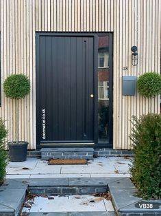 Contemporary Front Doors, oak iroko and other woods, Bespoke Doors Wood Front Doors, Oak Doors, Entrance Doors, Wooden Doors, Contemporary Front Doors, Contemporary Style, House Front Door, Diy Home Decor, New Homes