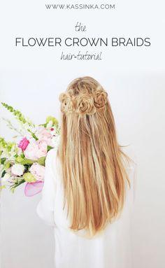 KASSINKA - flower crown braids hair tutorial