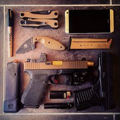 """""""#edc update. Guess it's time to send my #XDs in for the recall. #Glock 19 will…"""