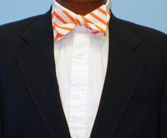 Orange Bow Tie by BarryBeaux on Etsy, $45.00
