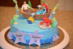 Cake at a Little Mermaid Party #littlemermaid #partycake