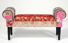 Muebles Portobellostreet.es:  Banqueta Patchwork Vintage - Pies de cama Vintage - Muebles Vintage