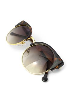 #Chicwish   Dark Amber Kitten Cat Eye Sunglasses - New Arrivals - Retro, Indie and Unique Fashion