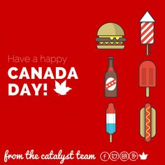 Canada Day 2015 from Catalyst Happy Canada Day, Symbols, Lettering, Projects, Blue Prints, Icons, Letters, Character, Texting