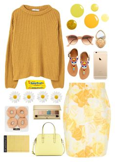 """""""Untitled #117"""" by janelleskieee ❤ liked on Polyvore featuring Rifle Paper Co, Versace, MANGO, Estée Lauder, Kate Spade, Ray-Ban, ASPIGA and Too Faced Cosmetics"""