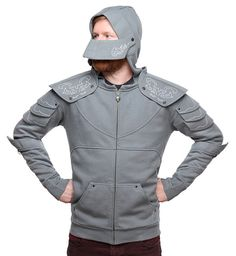 Assemble the knights of the round table and tell tales of honor and valor. Show off your cool Medieval Knight Hoodie and brag to Merlin.  Life is good. For you have the lightest armor in the land. Sure, it won't protect you from