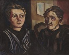 Twee mijnwerkersvrouwen in de Borinage - Charley Toorop (1922)
