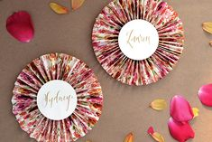 DIY Tutorial: Patterned Paper Place Card Fans