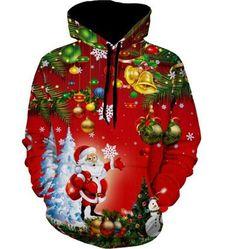 bed2864ab72ea Ugly Christmas Christmas Tree Jingle Bells Print Hoodie