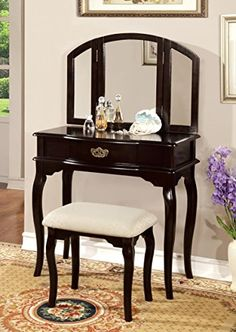 Provincial Vanity Set | French Furniture | Mahogany Antique ...