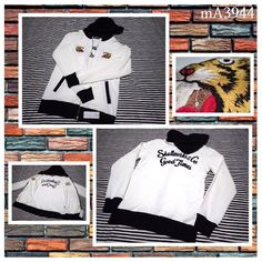 Brand NEW Embroidered hooded sweat shirt ( japanese M ) Tiger Skull works trends #Skullworks #Hooded