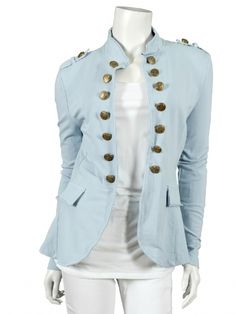 Damen Sweat Jacke, hellblau von XUNA bei www.meinkleidchen.de