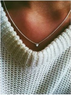 Nice and Simple Diamond Necklace Click for more #Tiffany
