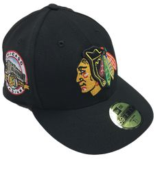6ad6dfc049e73 Chicago Blackhawks Low Profile Chicago Stadium 1929-1994 Patch 59FIFTY Cap  By New Era