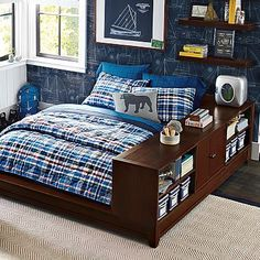 Ultimate Bookcase Storage Bed Set #pbteen & Ultimate Dresser Storage Bed Set | PBteen | Project - boy room ...
