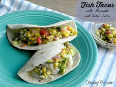 Grilled Fish Tacos with Avocado and Summer Garden Salsa