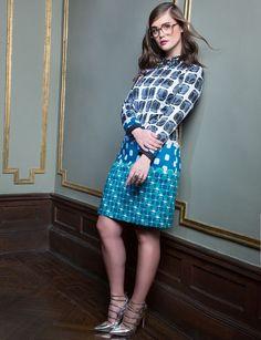 Studio Printed Embellished Collar Dress   New Eccentrics Collection   Women's Plus Size Fashion   ELOQUII