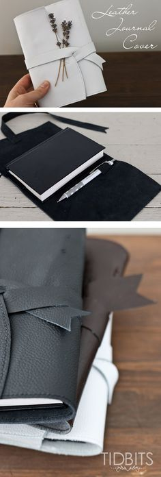 DIY Leather Journal Cover. An easy project with minimal sewing. Perfect as a gift for your man, your kids, or yourself.  #pmedia #ad #stockup4schools @staples