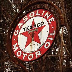 vintage texaco sign found at abandoned gas station. #southcarolina #retro