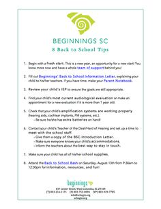 Beginnings Sc Let Your Teacher Get To Know Your Child Check Out