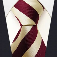 Maroon / Cream Stripe - Neckties Only Collection