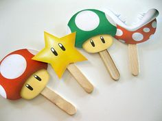Super Mario 25 Cupcake Toppers DIY  Printable PDF by PartyShmarty