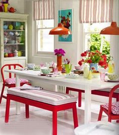 Nice!  Love red. Great for a small dinning too. A lot is DYI