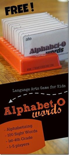 FREE Alphabetizing Game - Alphabet-O Words - This is such a fun way for kids to practice alphabetizing by making it a game (homeschool, reading, language arts, kindergarten, 1st grade, 2nd grade, 3rd grade, 4th grade)