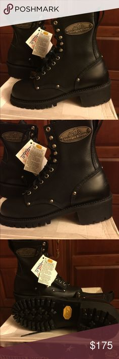 Sturgis Motorcycle Boots (BRAND NEW) Size 8 ISO Certified Motorcycle Boots Black BRAND NEW... NEVER WORN (SIZE 8) STURGIS WEINBRENNER Shoes Combat & Moto Boots
