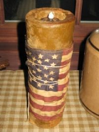 ...or wrap a little flag around an old jar and tie with twine.