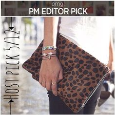 Fold over leopard clutch PM Editor pick Brand new // never been used // Exquisite, one of a kind, large Hand-crafted Leather pouch. It a beautiful Leopard print in the front and with a beautiful black firmer leather in the back. 100% Cotton lining on Leopard side. This stunner can be used for Ipad case, important papers, cosmetic, phone, make-up, medicine, check books or for anything else you can think of // Width: 13 inches // Height: 9 inches // Silver zipper // can be worn folded or flat…